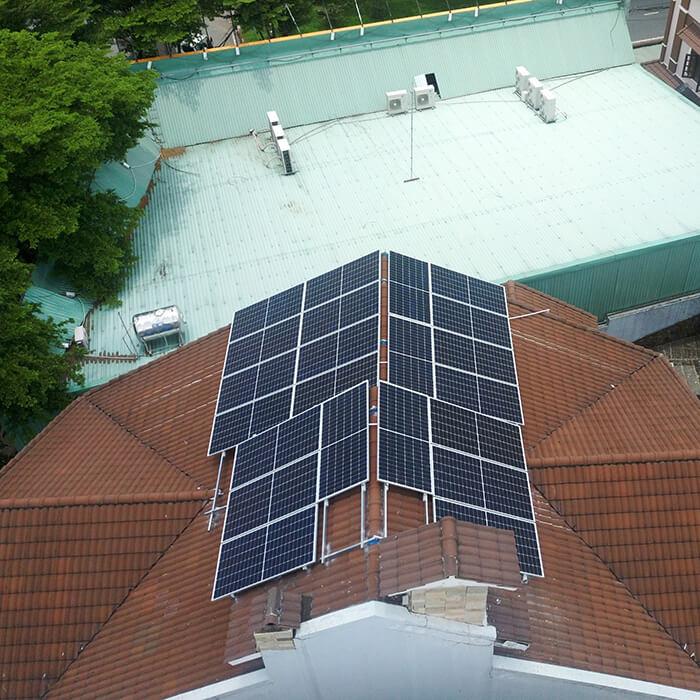 hòa lưới điện mặt trời cho gia đình anh Tuấn ở Bình Tân với 10KW 2