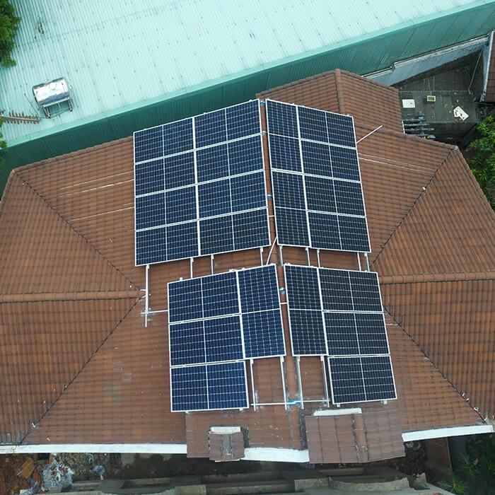 hòa lưới điện mặt trời cho gia đình anh Tuấn ở Bình Tân với 10KW 3