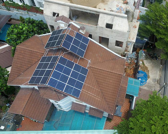 hòa lưới điện mặt trời cho gia đình anh Tuấn ở Bình Tân với 10KW 6