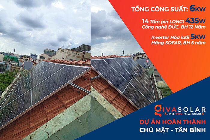 hệ thống điện hòa lưới 6KW cho hú Mật ở Tân Bình