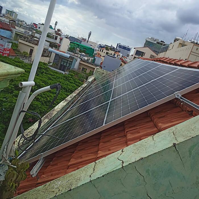 hệ thống điện hòa lưới 6KW cho hú Mật ở Tân Bình 2