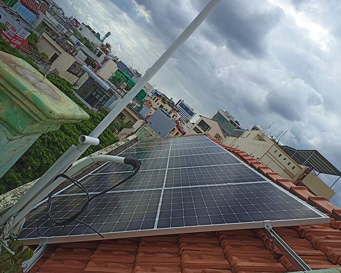 hệ thống điện hòa lưới 6KW cho hú Mật ở Tân Bình 3