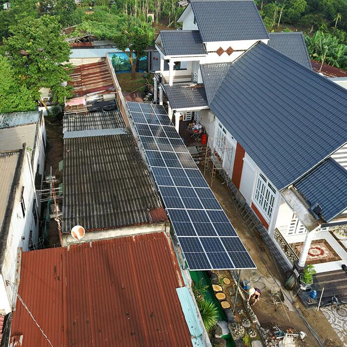 Hệ thống điện mặt trời cho gia đình chú Bá 11KW ở Bà Rịa Vũng Tàu 11