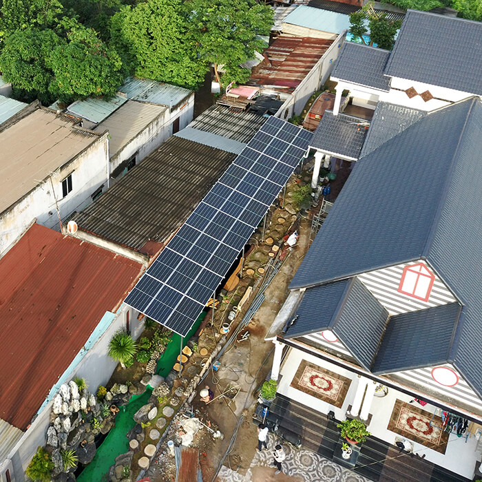 Hệ thống điện mặt trời cho gia đình chú Bá 11KW ở Bà Rịa Vũng Tàu 12