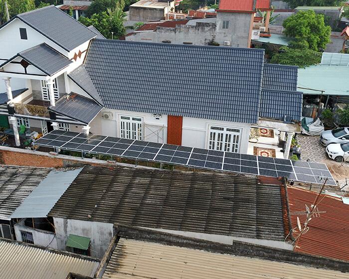 Hệ thống điện mặt trời cho gia đình chú Bá 11KW ở Bà Rịa Vũng Tàu 13