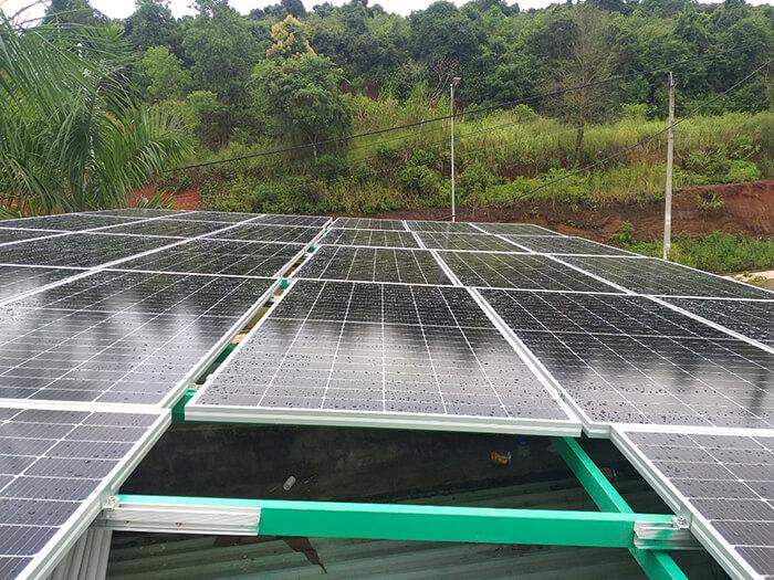 Hoàn thành lắp hệ thống điện mặt trời 40KW cho chị Vy ở Đắk Nông 2