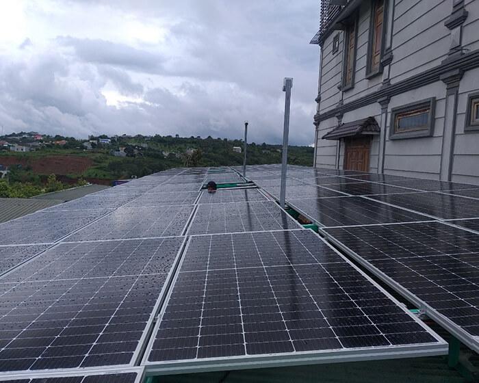 Hoàn thành lắp hệ thống điện mặt trời 40KW cho chị Vy ở Đắk Nông 3