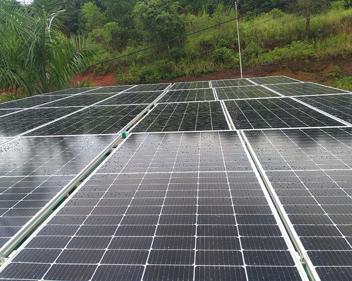 Hoàn thành lắp hệ thống điện mặt trời 40KW cho chị Vy ở Đắk Nông 5