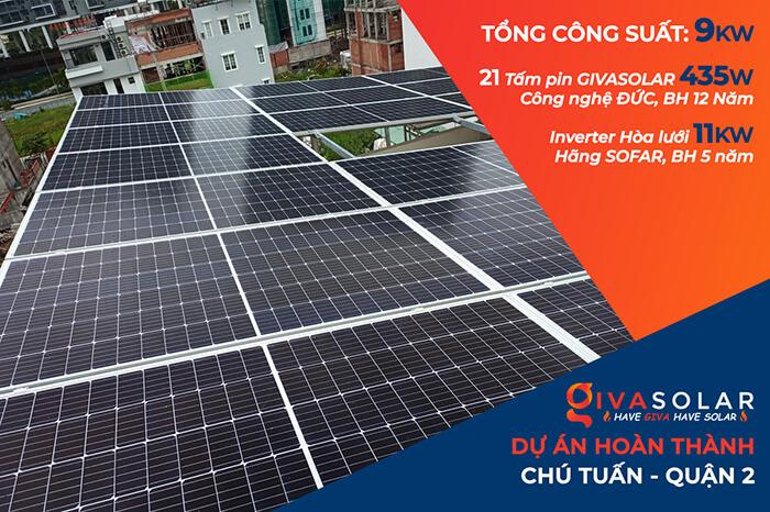 Lắp đặt hệ thống điện mặt trời hòa lưới 9KW cho Chú Tuấn ở Quận 2