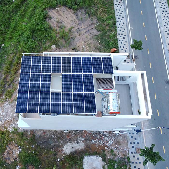 Lắp hệ thống điện mặt trời hòa lưới 9KW cho Chú Tuấn ở Quận 2