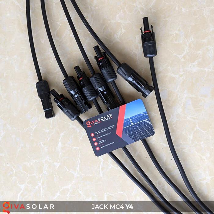 Cặp Jack kết nối chữ Y phân 4 nhánh MC4 GV-Y4 7