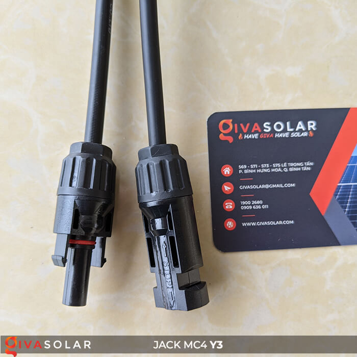 Cặp Jack kết nối phân nhánh chữ Y MC4 3 đầu ra GV-Y3 10