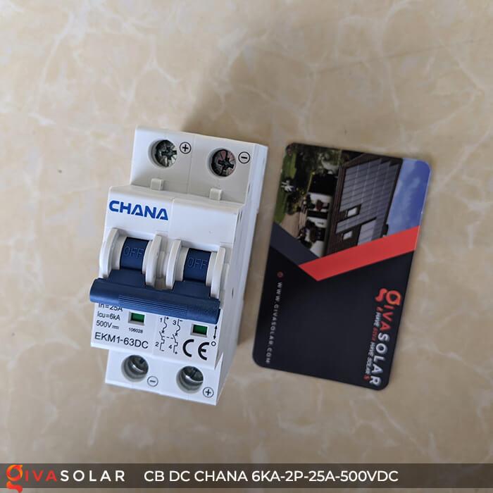 Cầu dao điện CB DC CHANA 2P-6KA-25A-500VDC 1
