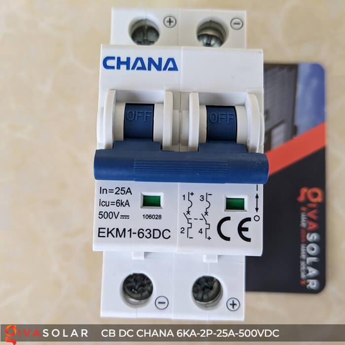 Cầu dao điện CB DC CHANA 2P-6KA-25A-500VDC 11
