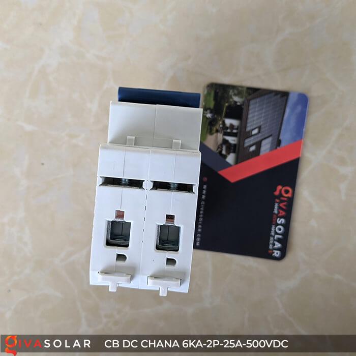 Cầu dao điện CB DC CHANA 2P-6KA-25A-500VDC 12