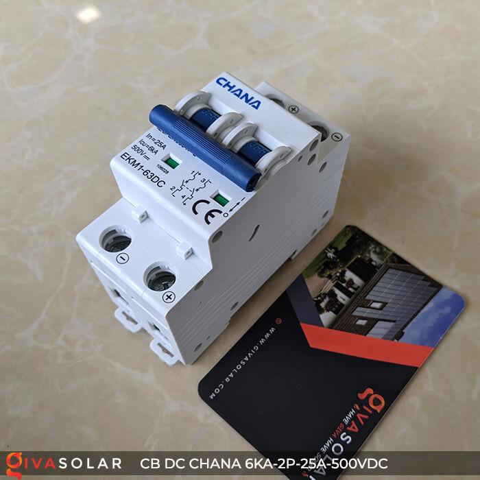 Cầu dao điện CB DC CHANA 2P-6KA-25A-500VDC 2