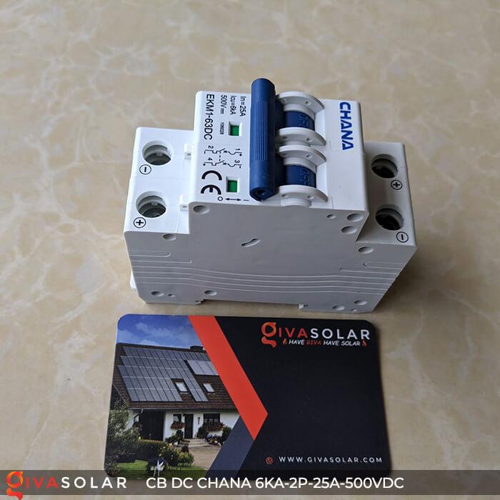 Cầu dao điện CB DC CHANA 2P-6KA-25A-500VDC 3