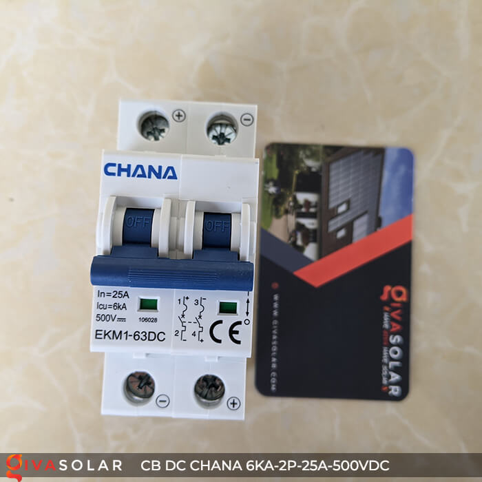Cầu dao điện CB DC CHANA 2P-6KA-25A-500VDC 4