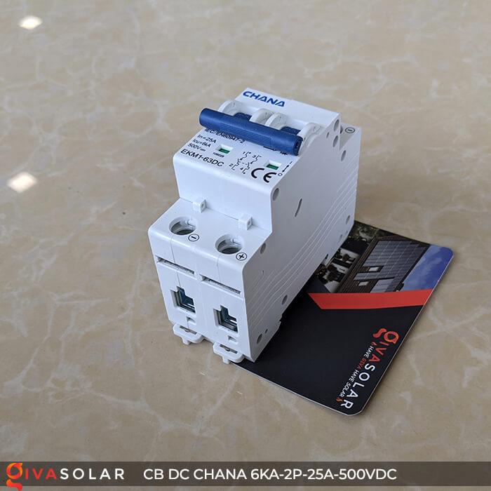 Cầu dao điện CB DC CHANA 2P-6KA-25A-500VDC 6