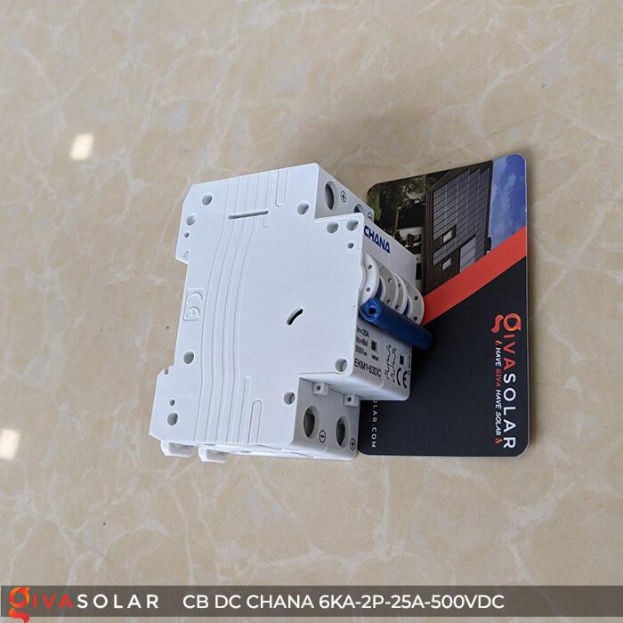 Cầu dao điện CB DC CHANA 2P-6KA-25A-500VDC 7