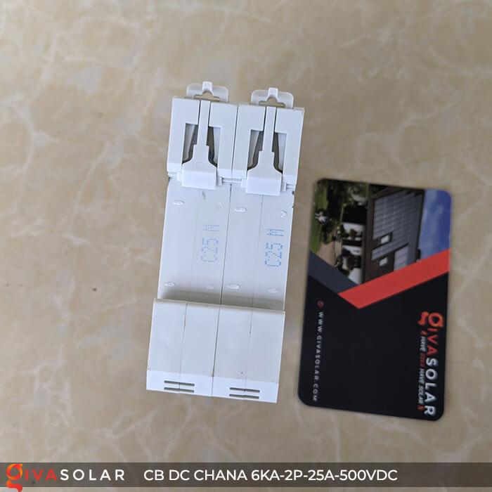 Cầu dao điện CB DC CHANA 2P-6KA-25A-500VDC 8