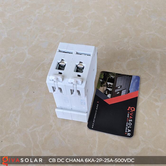 Cầu dao điện CB DC CHANA 2P-6KA-25A-500VDC 9
