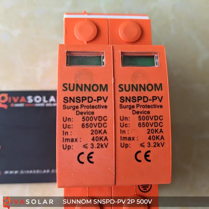CB Chống sét DC SUNNOM 2P 500V 8