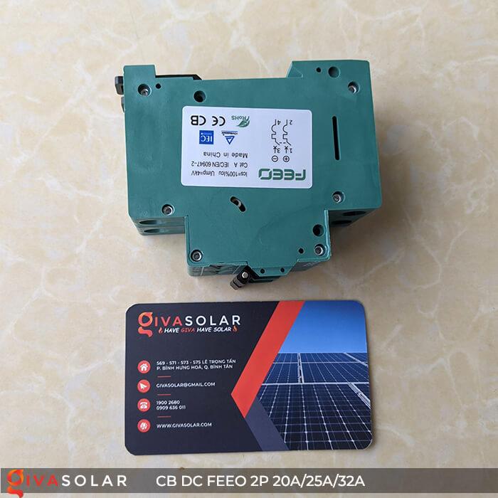CB DC FEEO 2P 550V 20A/25A/32A 12