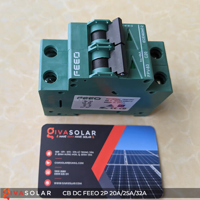 CB DC FEEO 2P 550V 20A/25A/32A 6