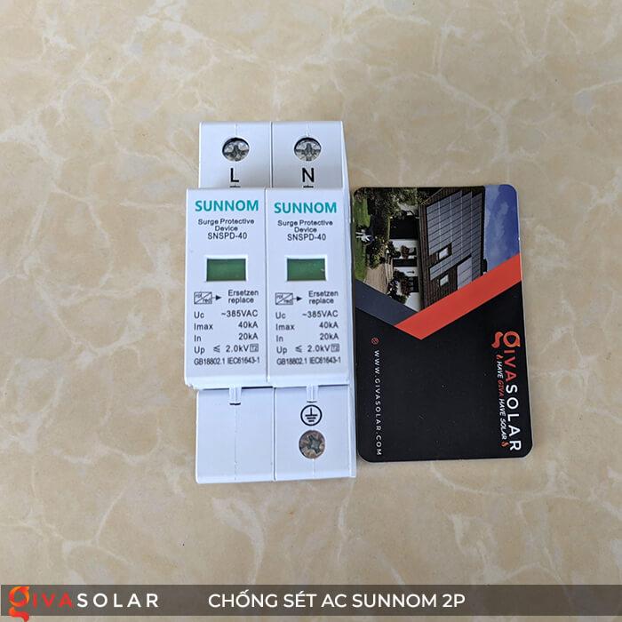 Chống sét AC Sunnom 2P 20-40KA 385VAC 2