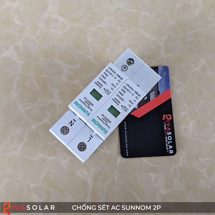 Chống sét AC Sunnom 2P 20-40KA 385VAC 3