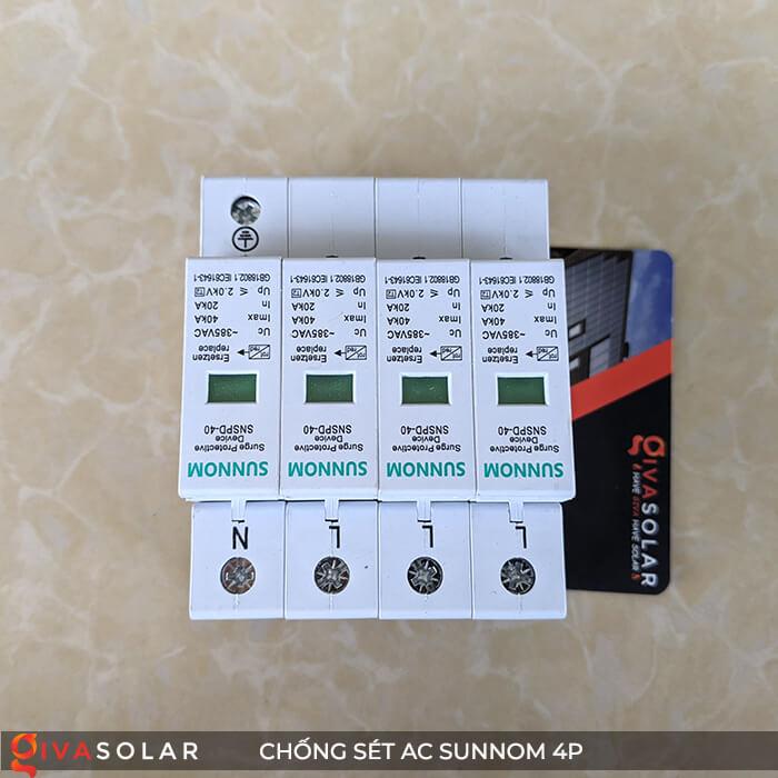 Chống sét AC Sunnom 4P 20-40KA 385VAC 3