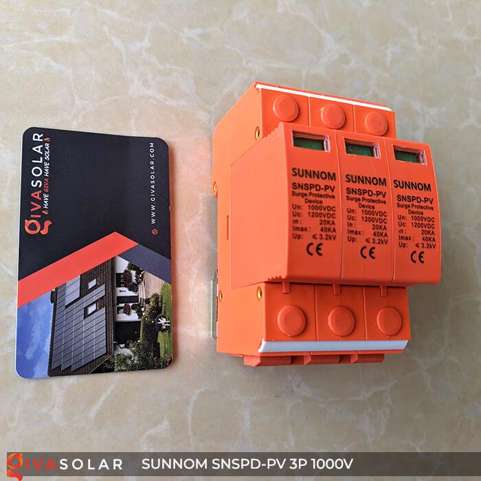 Chống sét DC SUNNOM 3P 1000V 2