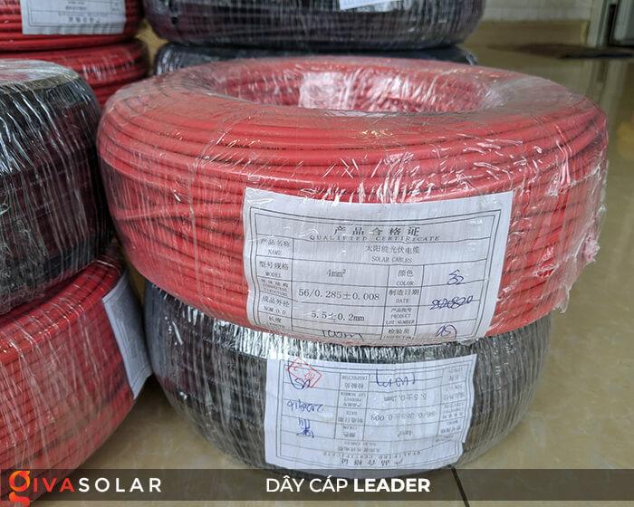 Dây cáp điện năng lượng mặt trời Leader 4mm2 6mm2 15