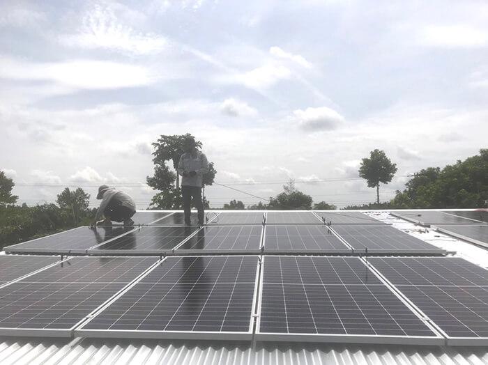dự án hòa lưới 10KW cho gia đình anh Long ở Đồng Nai 2