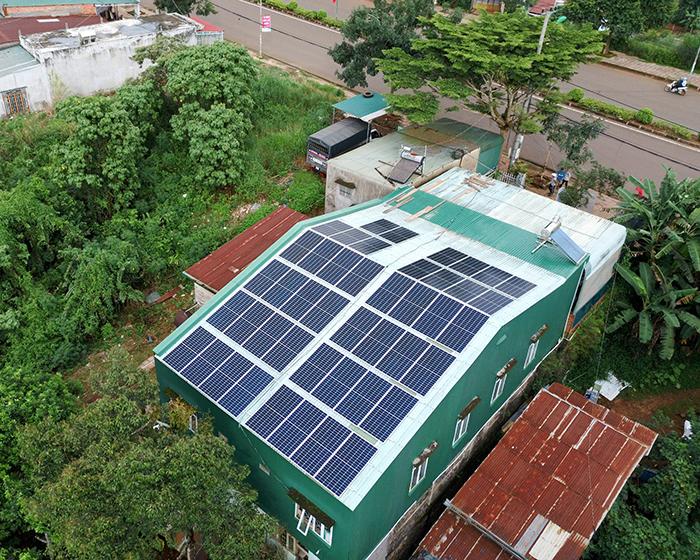 Hệ thống điện mặt trời hòa lưới 20KW cho anh Lĩnh đắk nông 10