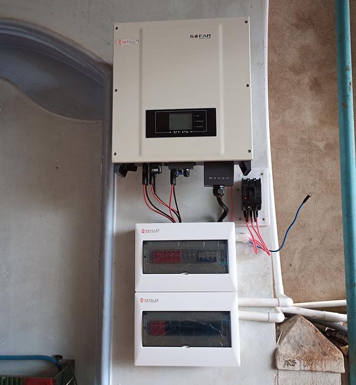 Hệ thống điện mặt trời hòa lưới 20KW cho anh Lĩnh đắk nông 11