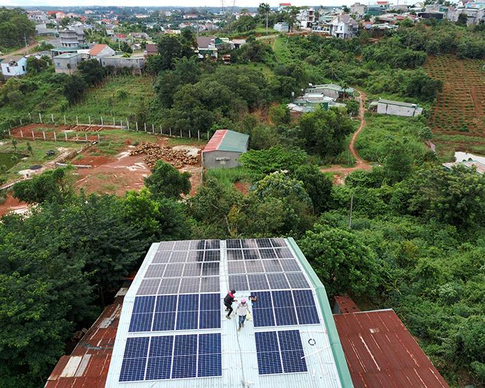 Hệ thống điện mặt trời hòa lưới 20KW cho anh Lĩnh đắk nông 2
