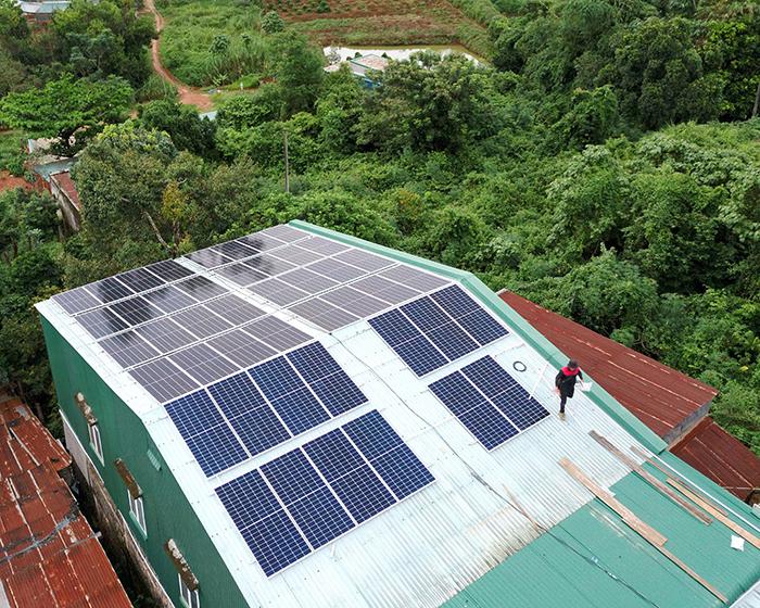 Hệ thống điện mặt trời hòa lưới 20KW cho anh Lĩnh đắk nông 3