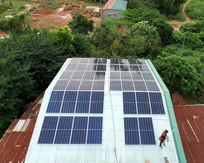 Hệ thống điện mặt trời hòa lưới 20KW cho anh Lĩnh đắk nông 4