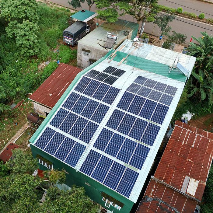 Hệ thống điện mặt trời hòa lưới 20KW cho anh Lĩnh đắk nông 6