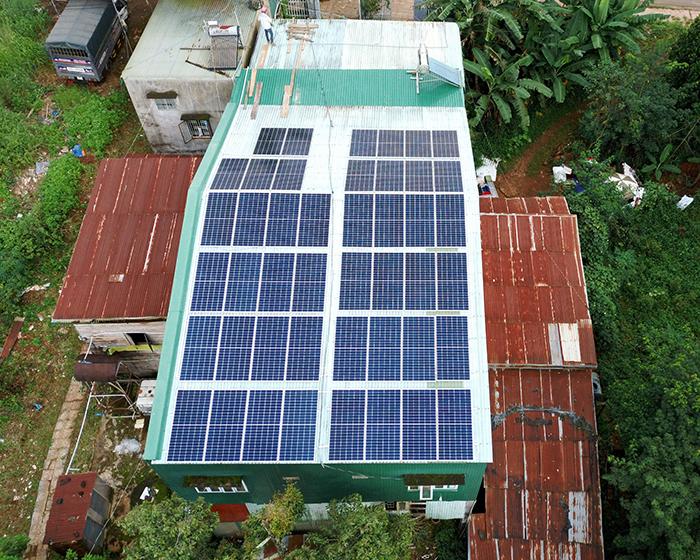 Hệ thống điện mặt trời hòa lưới 20KW cho anh Lĩnh đắk nông 9