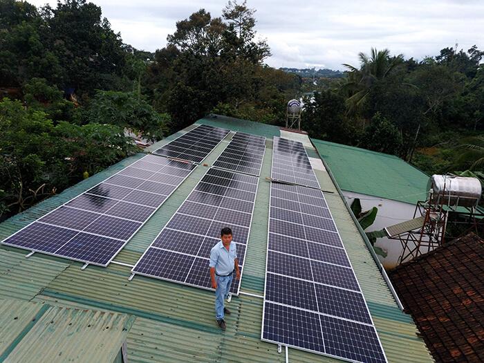Hệ thống điện năng lượng hòa lưới 25KW của chị Phượng ở Đắk Nông 5