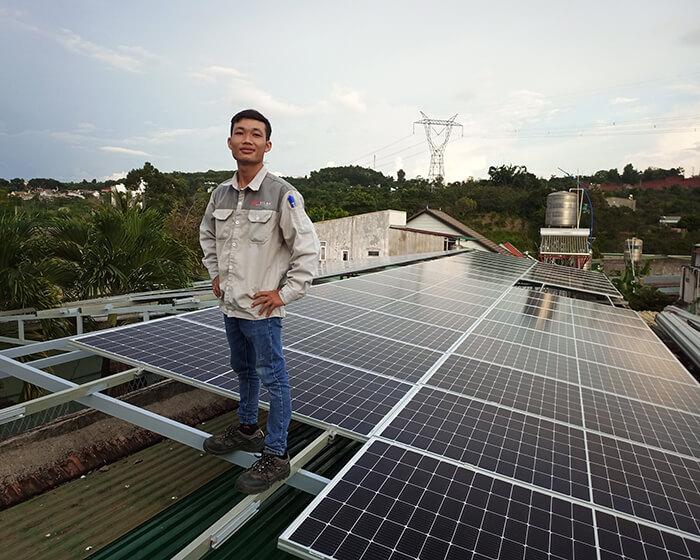 Hệ thống điện mặt trời hòa lưới 30KW cho anh Tuyên ở Đắk Nông 5