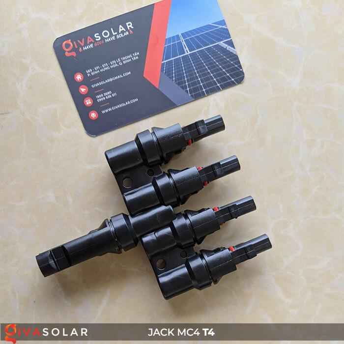 Jack nối Pin mặt trời MC4 4-1 GV-T4 5