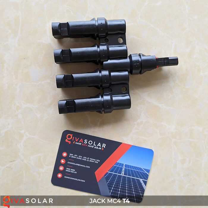 Jack nối Pin mặt trời MC4 4-1 GV-T4 6