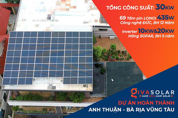 hệ thống nhà ở và nhà kho tổng công suất 30Kw cho anh Thuận ở BRVT