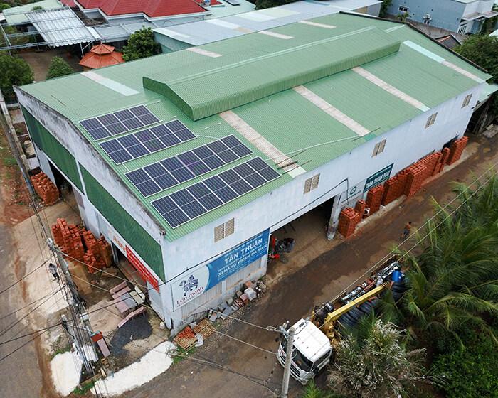 hệ thống nhà ở và nhà kho tổng công suất 30Kw cho anh Thuận ở BRVT 10
