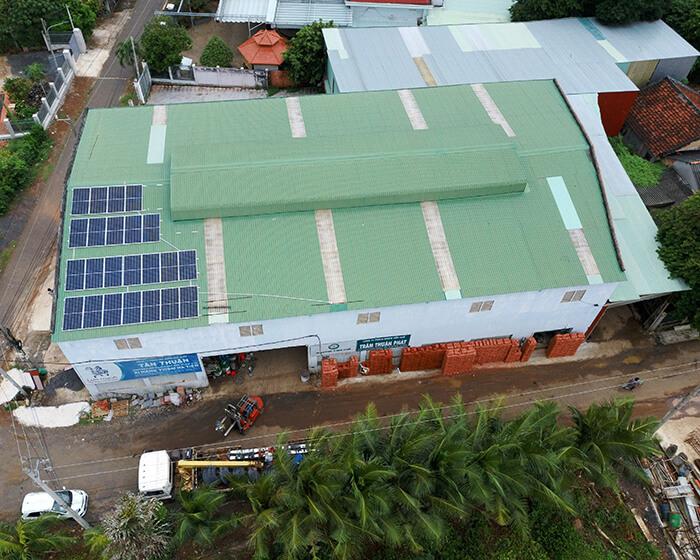 hệ thống nhà ở và nhà kho tổng công suất 30Kw cho anh Thuận ở BRVT 12