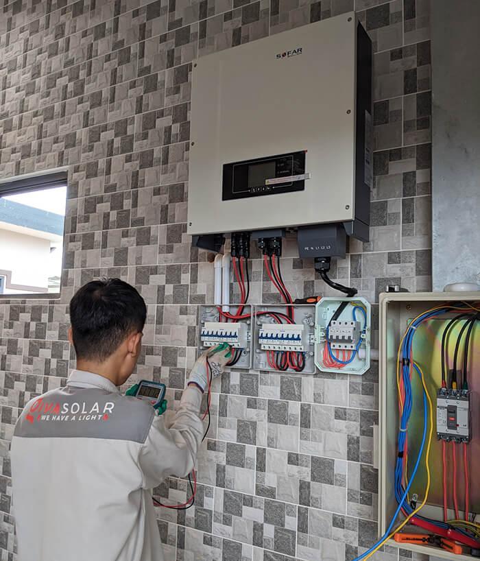 hệ thống nhà ở và nhà kho tổng công suất 30Kw cho anh Thuận ở BRVT 14
